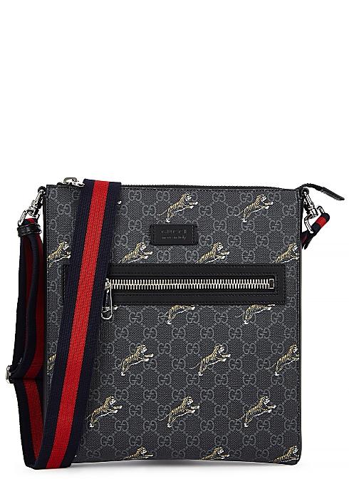 8d74c581f Gucci GG Supreme tiger-print cross-body bag - Harvey Nichols