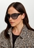 Black wraparound sunglasses - Prada