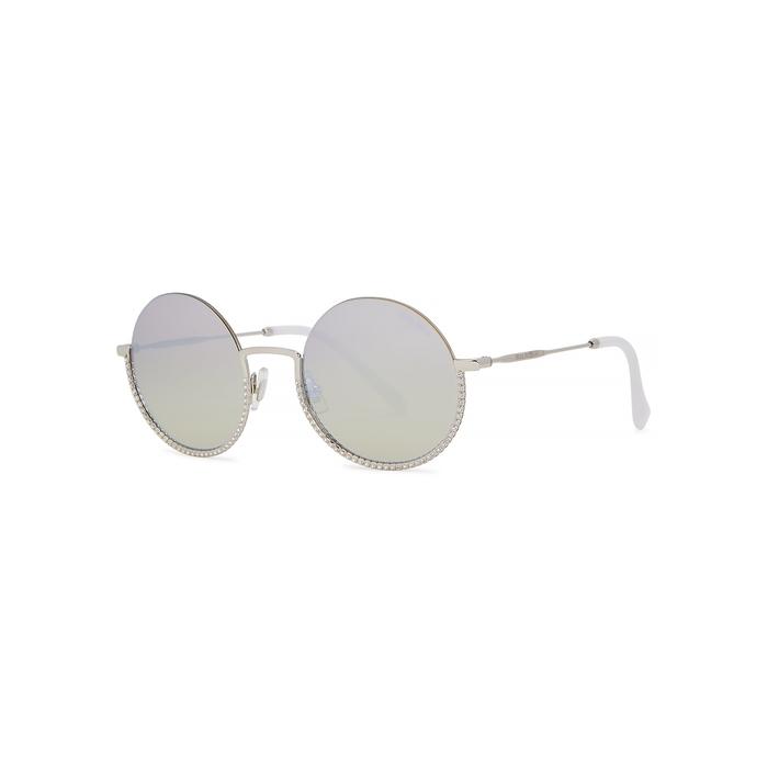 ad6fcef9298e Miu Miu Silver-Tone Round-Frame Sunglasses | ModeSens