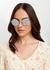 Silver-tone round-frame sunglasses - Miu Miu