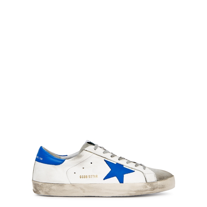 Golden Goose Superstar White Distressed Leather Sneakers