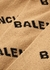 Camel logo-intarsia wool jumper - Balenciaga