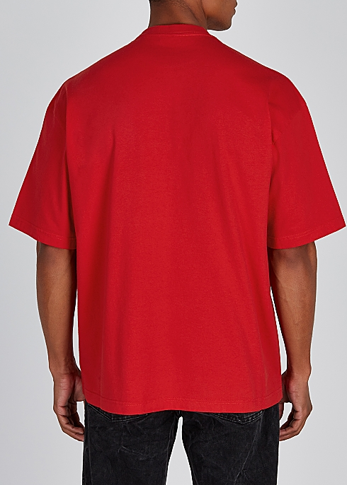 a3d49261 Balenciaga Red logo-print cotton T-shirt - Harvey Nichols