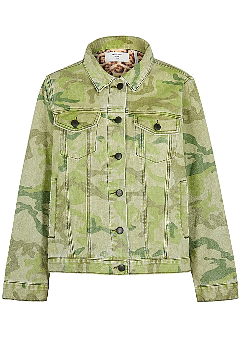 8044f7f211a0f Oneteaspoon Bandits camouflage-print denim jacket - Harvey Nichols