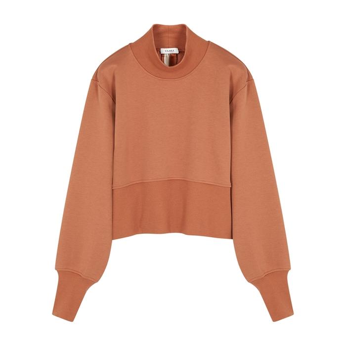 Vaara Gaia cropped cotton-blend sweatshirt