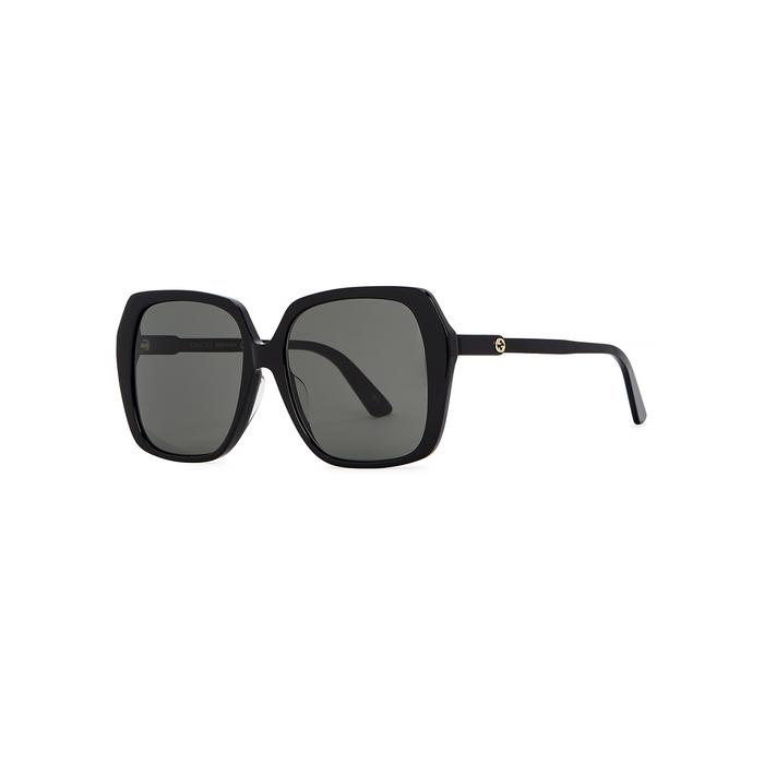 2ccdfffd2ec5 Gucci Black Oversized Sunglasses | ModeSens