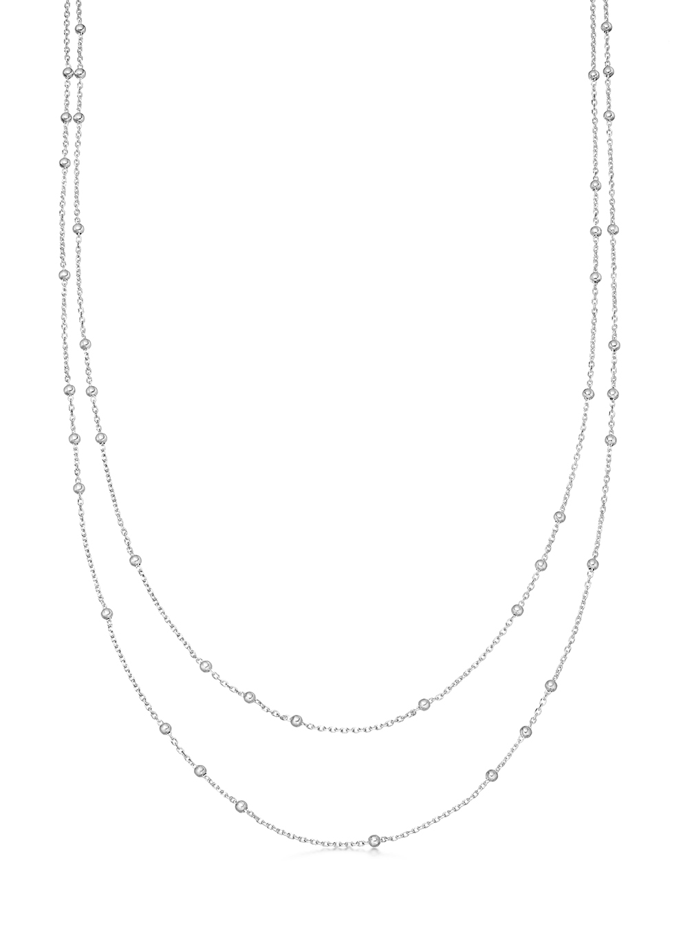 Double Chain sterling silver necklace