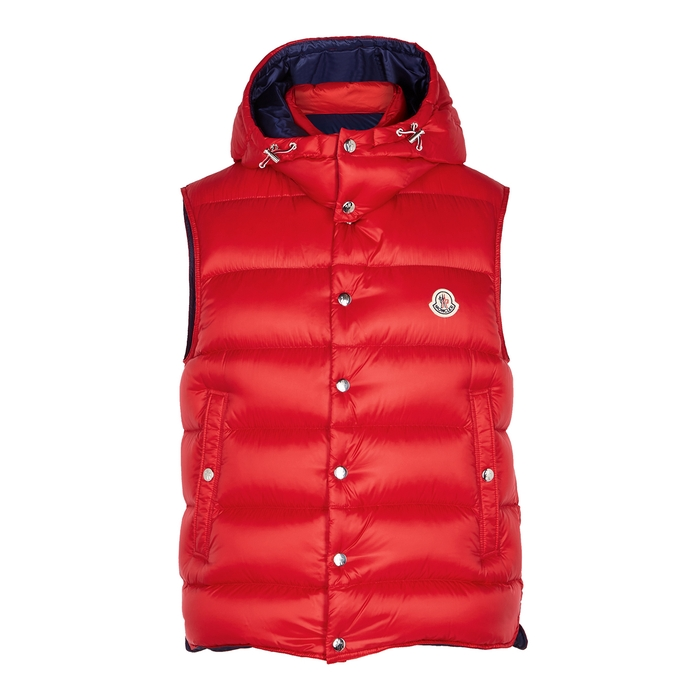 b3b1e0003 Billercart Red Quilted Shell Gilet