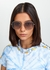 Mehrie gold-tone oversized sunglasses - Oliver Peoples