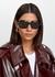 Avri black square-frame sunglasses - Oliver Peoples