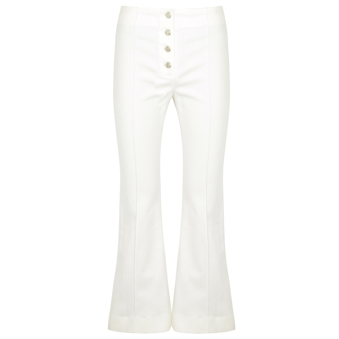 Rosetta Getty Jeans WHITE KICK-FLARE JEANS