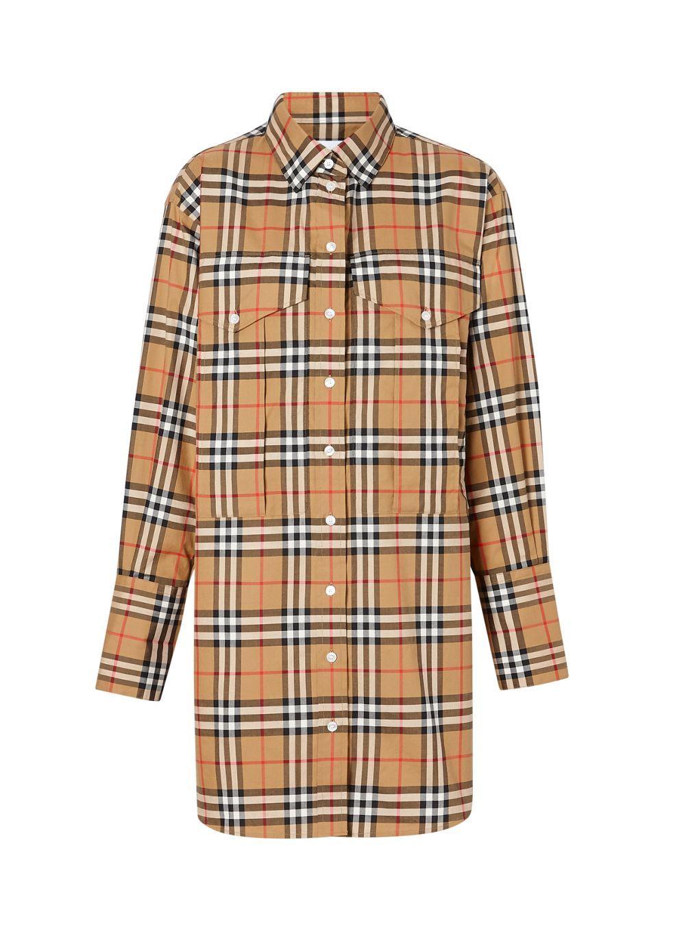 BURBERRY | Burberry Vintage Check Cotton Oversized Shirt | Goxip