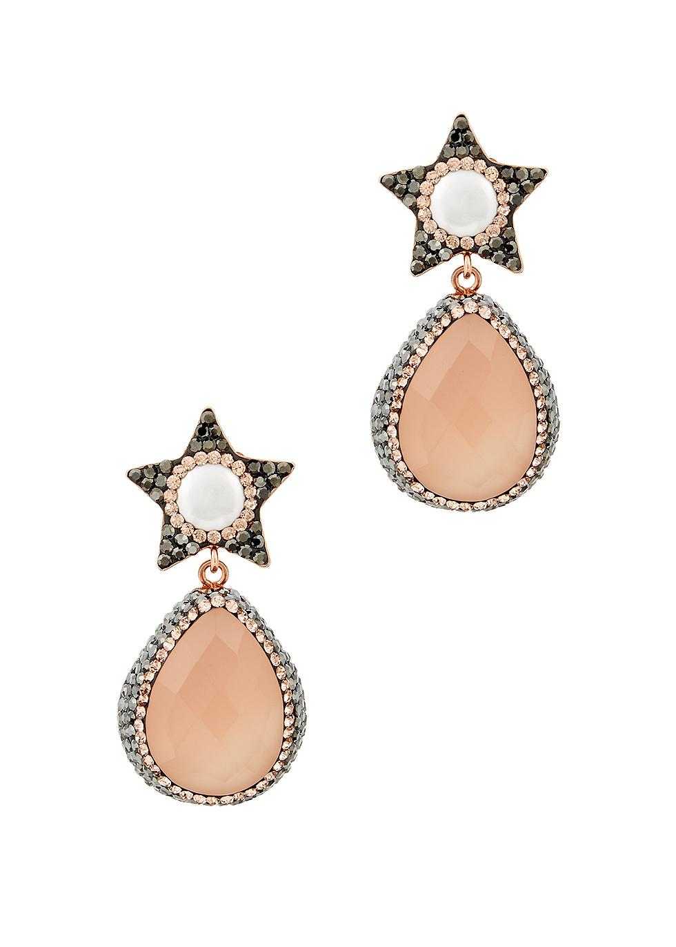 Bellatrix rose quartz earrings