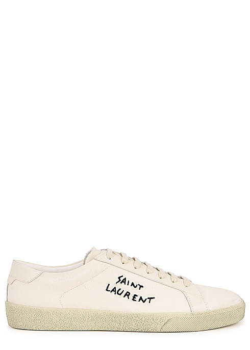 2d34168b20f Saint Laurent Off-white canvas sneakers - Harvey Nichols