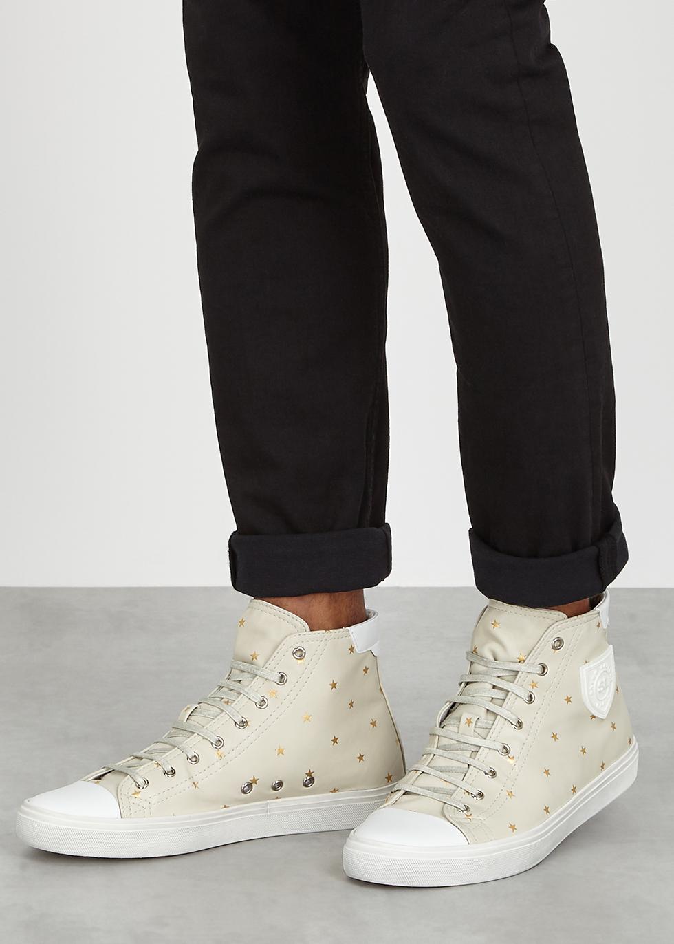 Men's Bedford Star Print High Top Sneakers