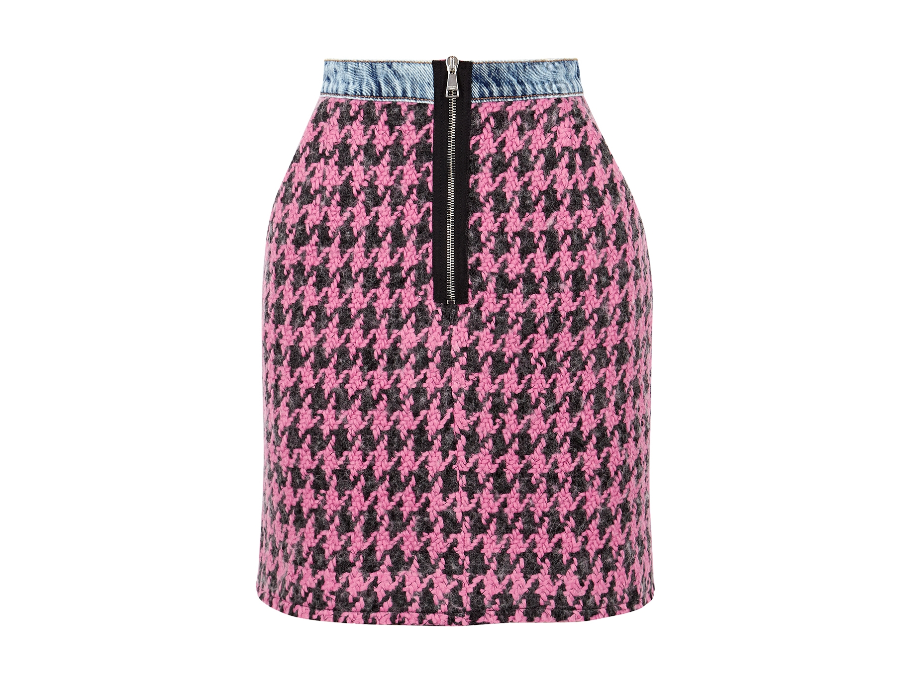 d2a640f7c6 Houndstooth tweed mini skirt