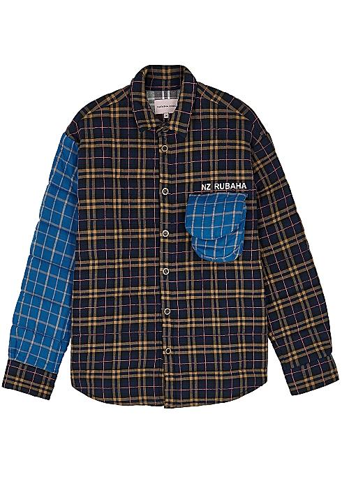 3f5af51dbf Natasha Zinko Navy quilted cotton-blend jacket - Harvey Nichols