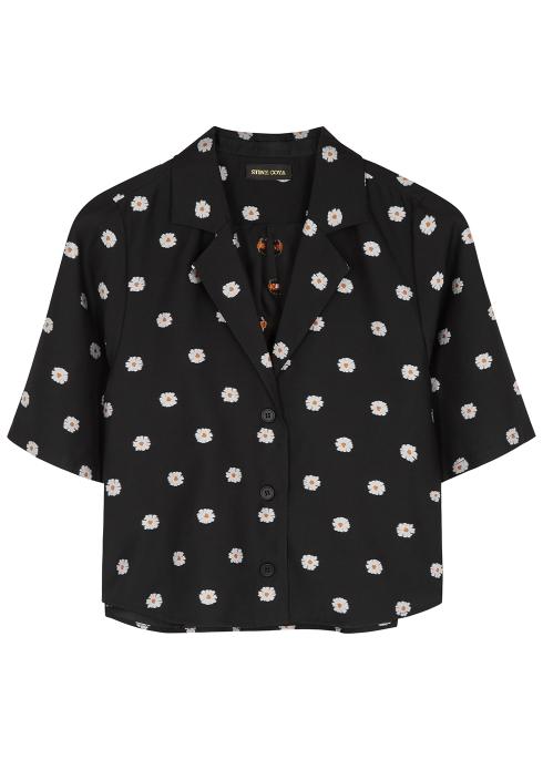 d367b65f3899 Stine Goya Athena black embroidered shirt - Harvey Nichols