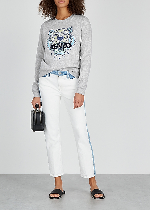 052df80ac Kenzo Tiger-embroidered cotton sweatshirt - Harvey Nichols