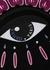 Black eye-embroidered cotton sweatshirt - Kenzo