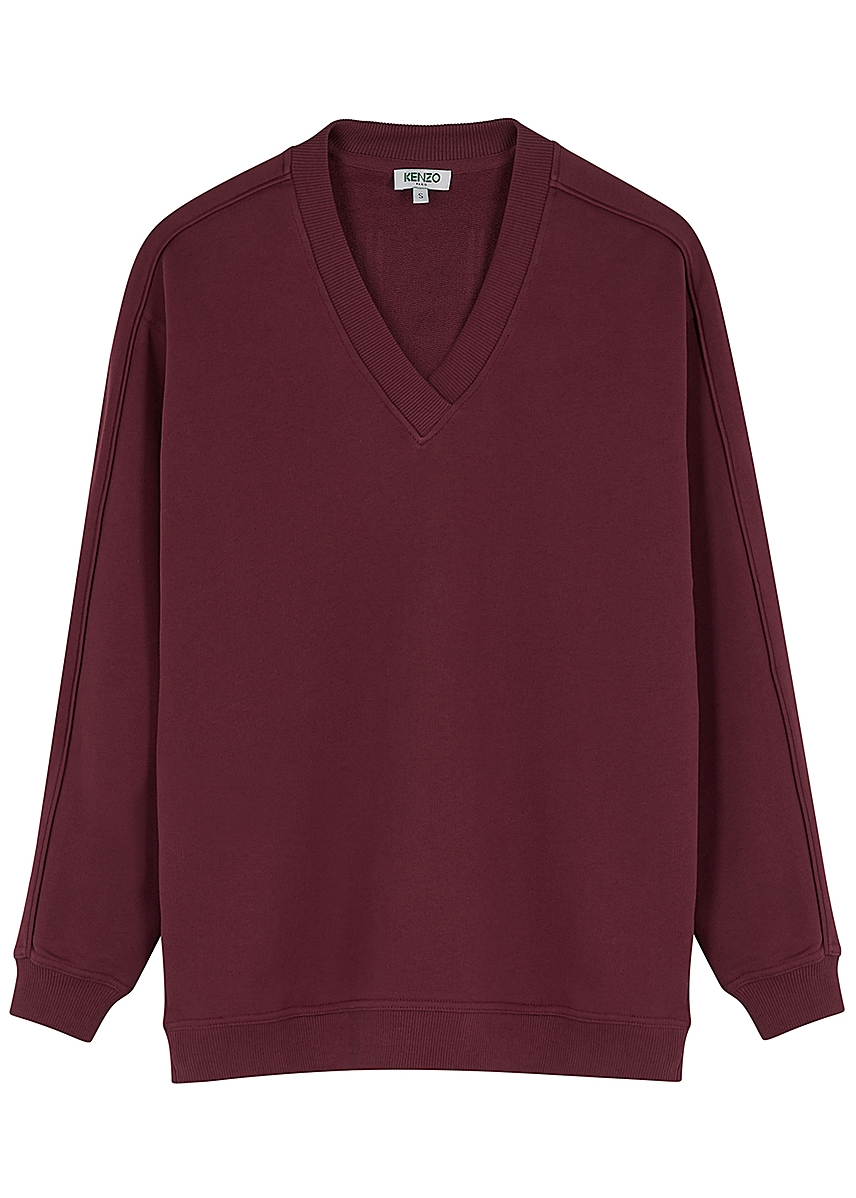 852ed4a1 Bordeaux logo-appliquéd cotton sweatshirt Bordeaux logo-appliquéd cotton  sweatshirt. New Season. Kenzo