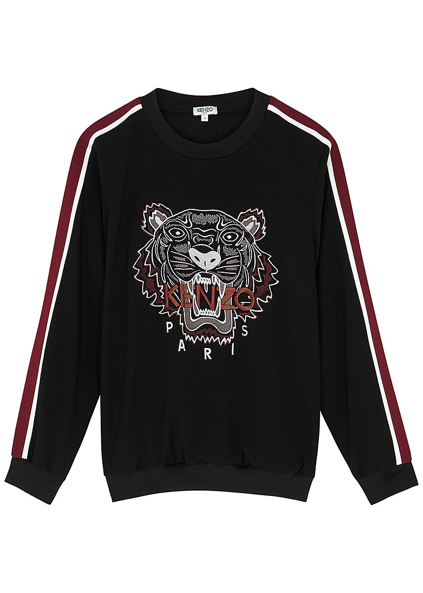 3e7a9ee607 Kenzo. Tiger-embroidered cotton sweatshirt. £205.00 · Black  tiger-embroidered sweatshirt ...