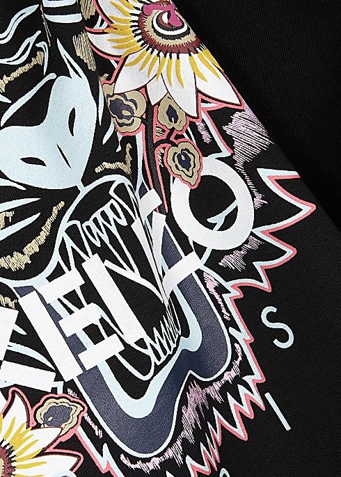 b454fc9e38 Kenzo Black printed cotton T-shirt - Harvey Nichols