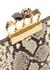 Python-effect leather clutch - Alexander McQueen
