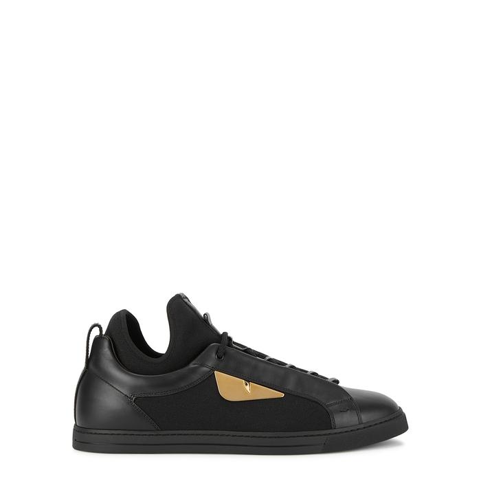 Fendi Black Leather Sneakers