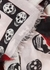 Torn Roses printed fine-knit scarf - Alexander McQueen