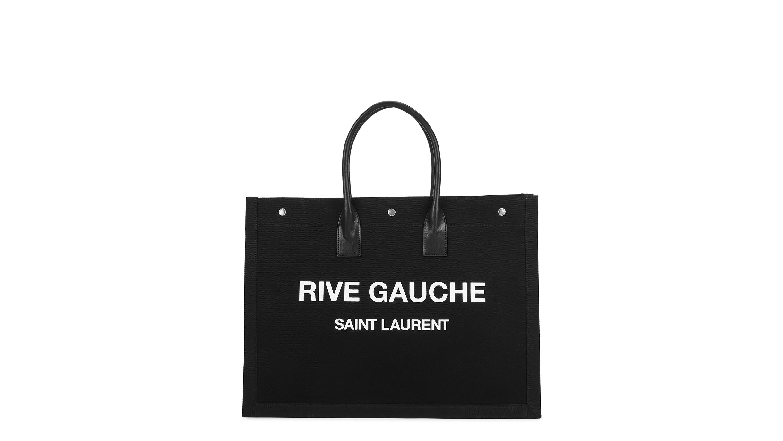 6be3831cbb2 Saint Laurent Rive Gauce black canvas tote - Harvey Nichols