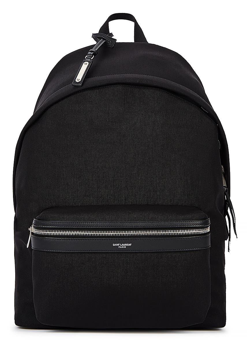 643aa5ba Gucci. GG Supreme monogrammed backpack. £885.00 · City black canvas backpack  ...