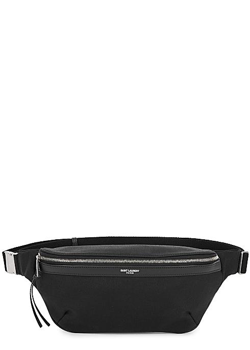 99088bd7d Saint Laurent Medium black canvas belt bag - Harvey Nichols