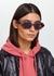 N°862 purple tortoiseshell oval-frame sunglasses - ALAIN MIKLI