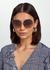 Gold-tone octagon-frame sunglasses - Bvlgari