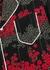 Black floral-print silk shirt - RED Valentino