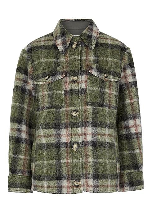4cfb88f6a838e3 Isabel Marant Étoile Gaston checked wool-blend jacket - Harvey Nichols
