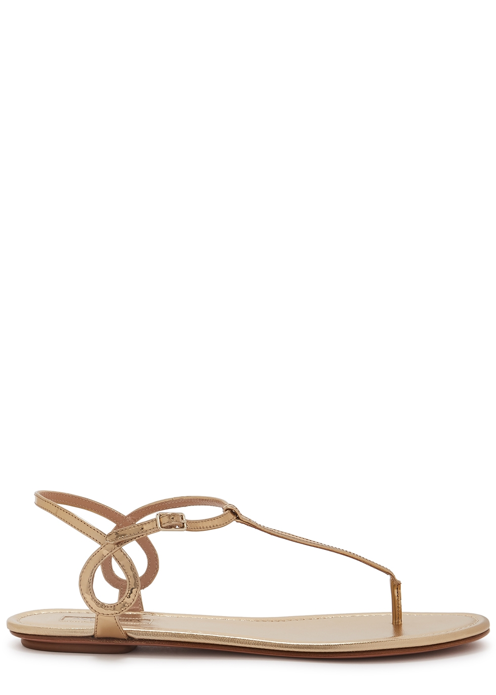 Almost Bare gold leather sandals