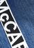 Blue logo-jacquard boyfriend jeans - Stella McCartney