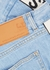 Blue logo-jacquard slim-leg jeans - Stella McCartney