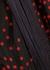 Navy polka dot-print fringed top - Stella McCartney