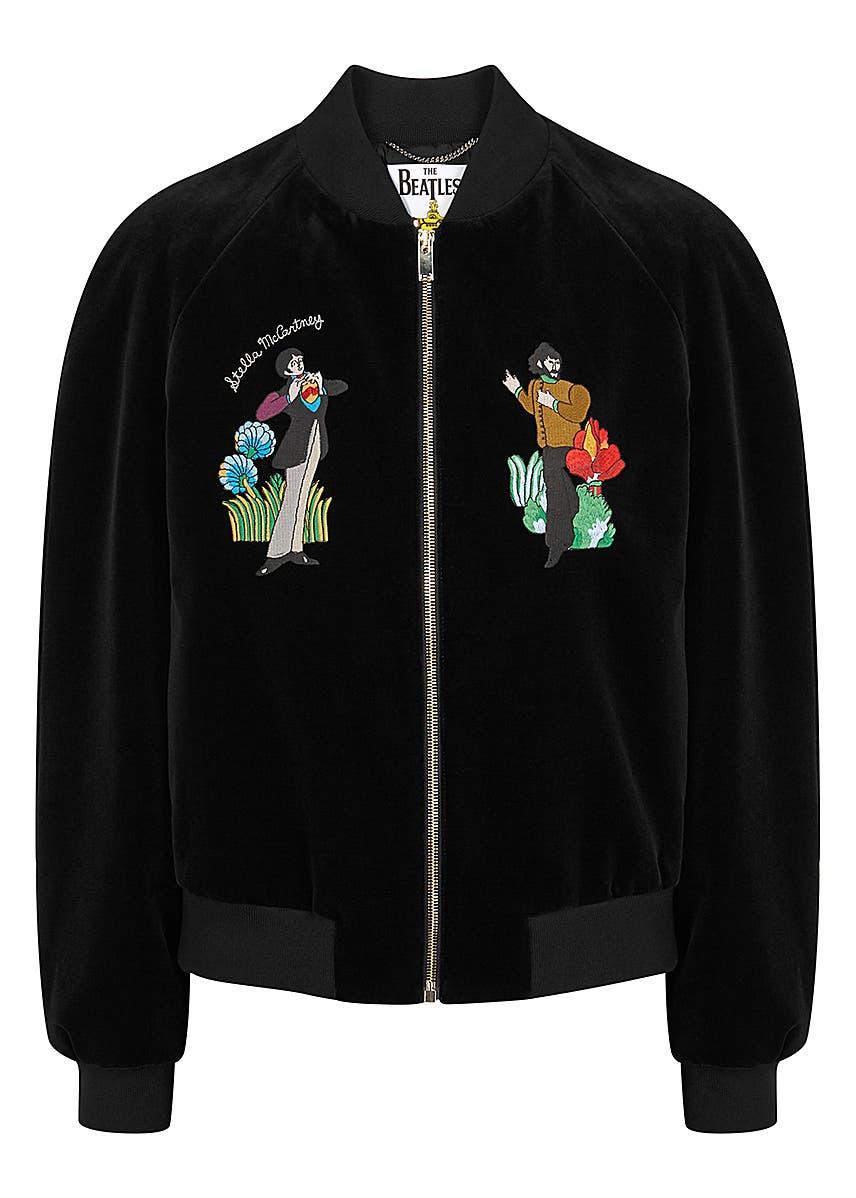 fe031263c8d78 X The Beatles embroidered velvet bomber jacket X The Beatles embroidered  velvet bomber jacket. Stella McCartney