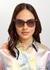 Transparent black oversized sunglasses - BVLGARI