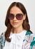 Tortoiseshell oversized sunglasses - Tiffany & Co.