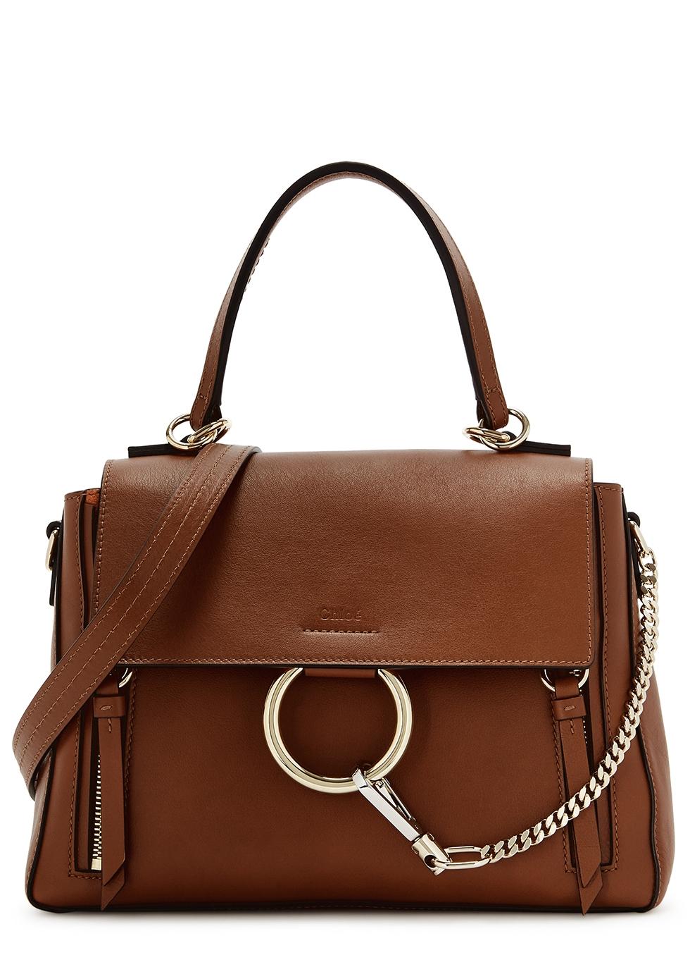 CHLOÉ   Chloé Faye Day Small Leather Shoulder Bag   Goxip