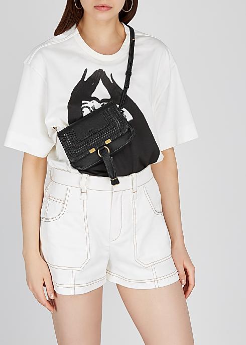 ab7bec11 Chloé Marcie black leather belt bag - Harvey Nichols