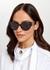 Black cat-eye sunglasses - Versace