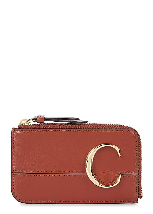 e59cb7bbdb89a1 Chloé Chloé C medium leather card holder - Harvey Nichols