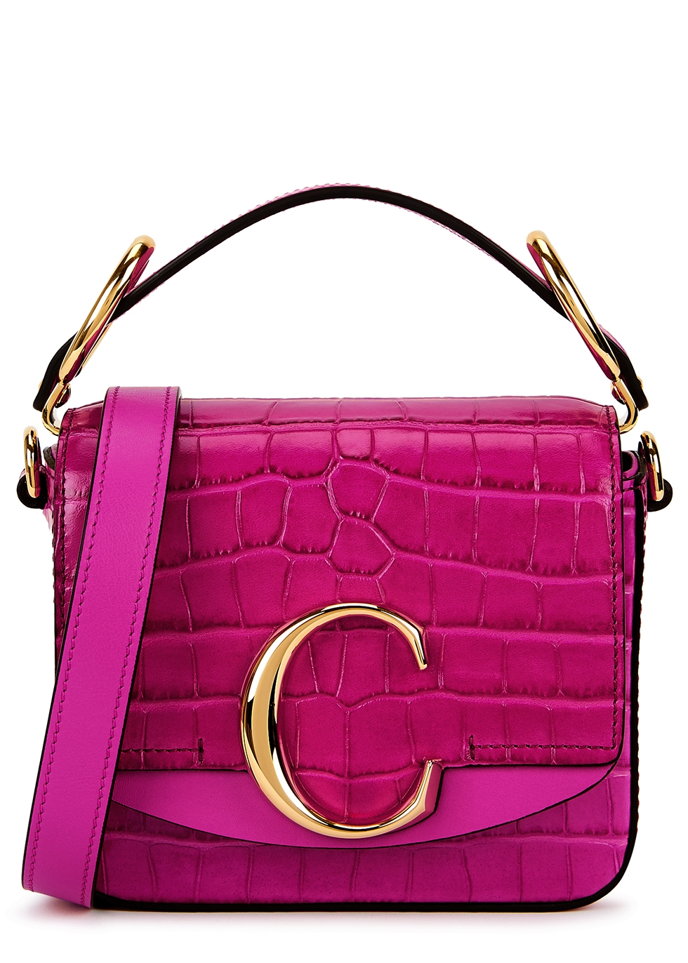 CHLOÉ | Chloé Chloé C Mini Fuchsia Leather Cross-Body Bag | Goxip