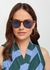 Rebeller brown oval-frame sunglasses - Le Specs